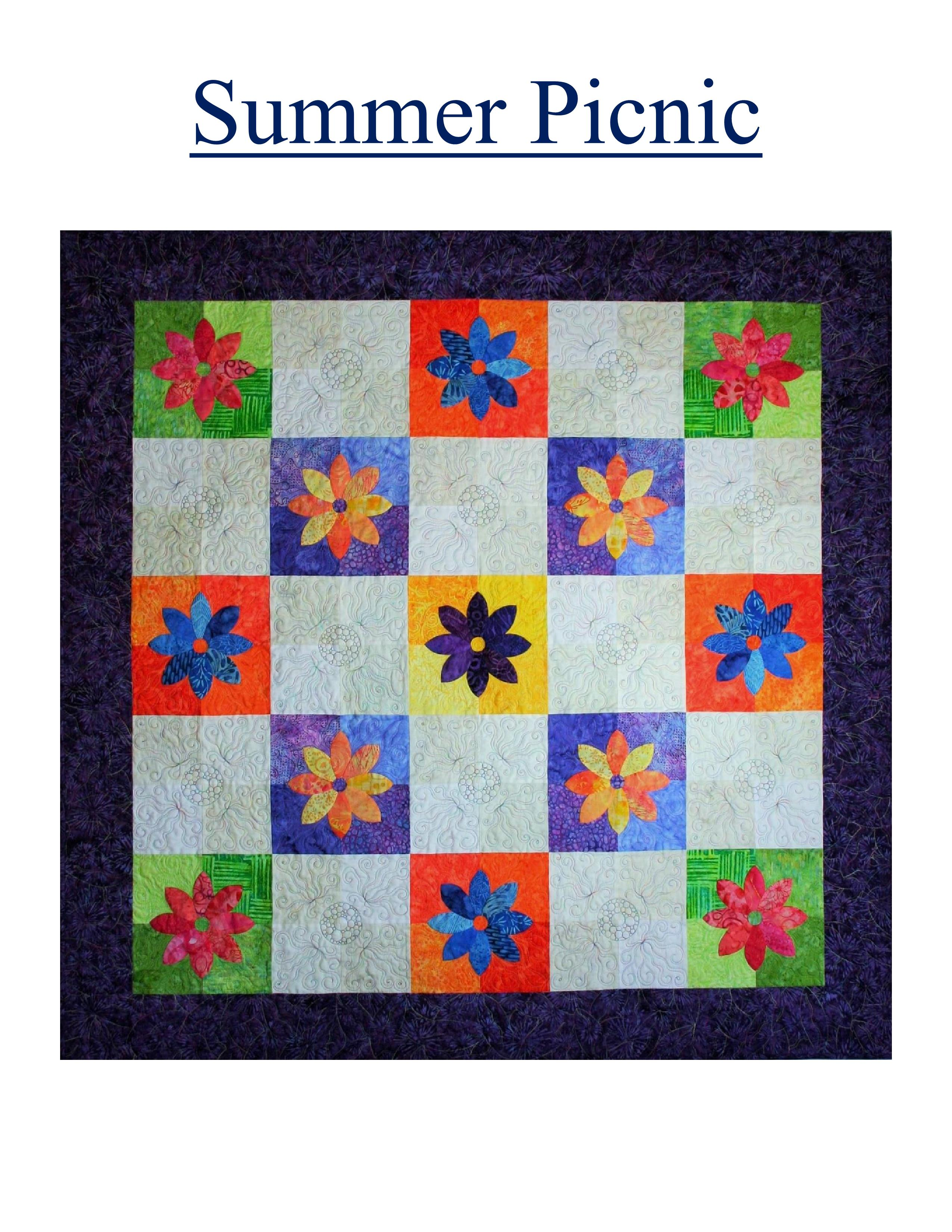 Nine Patch Play Quilt Kit by Swan Amity Studios